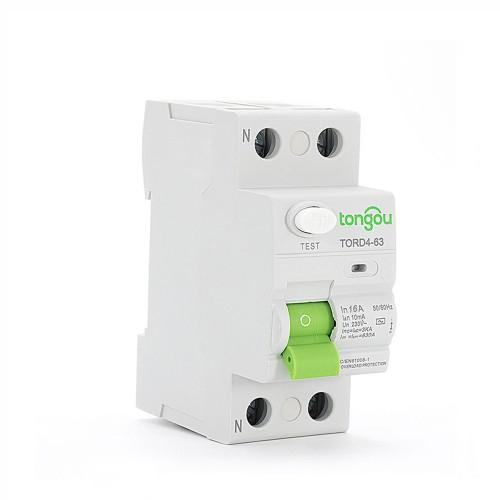 TORD4-63 2P 16A 10mA A/AC Tipo electrónico Disyuntor de corriente residual  RCCB RCD
