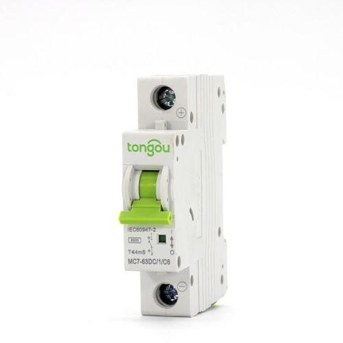 TOMC7-63 1P 6-63A DC Mini disyuntor para energía solar MCB