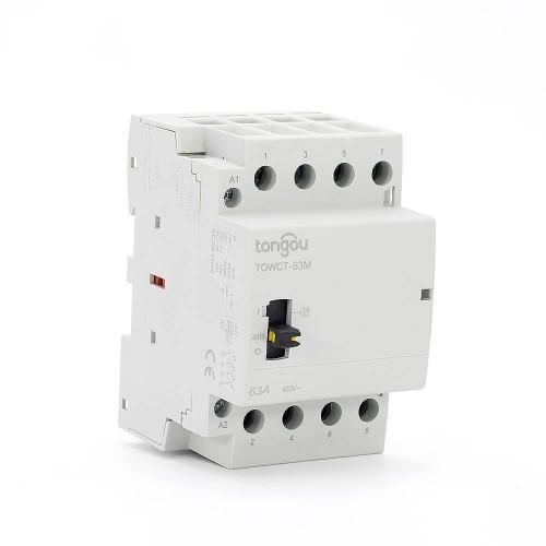 Contador modular de hogar del carril dinar de 4P 63A 4NO CE CB 220V / 230V / 400V con el interruptor de control manual TOWCTH-63/4