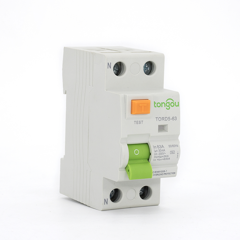 TORD5-63 2P 63A 30mA Electromagnetic Type Residual Current Circuit Breaker RCCB