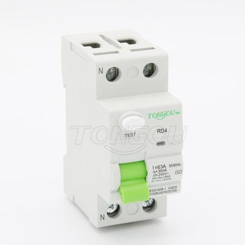 TORD4-63 2 P 63A 30mA 110 В 220 В устройство защитного отключения RCCB