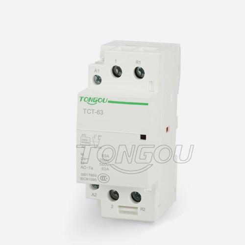 TOTCT-63 Бытовой модульный контактор 2P 63A 1NO 1NC 220V один этап