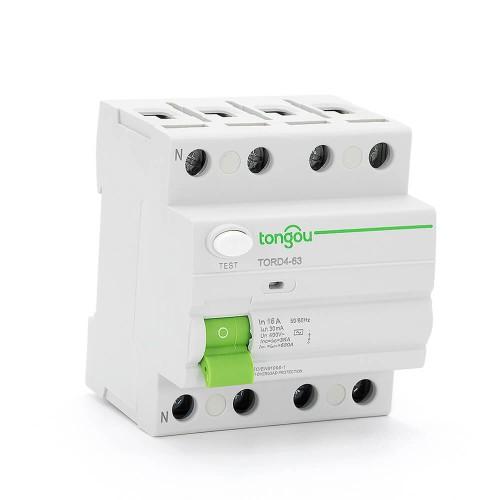TORD4-63 4 P 16A 30mA  устройство защитного отключения RCCB