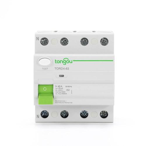 TORD4-63 4 P 40A-30mA  устройство защитного отключения RCCB
