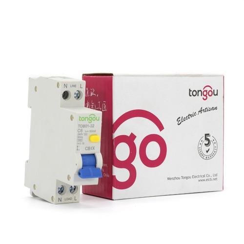 TOB01-32 240V 6A 30mA RCBO Устройство защитного отключения с защитой от перенапряжения