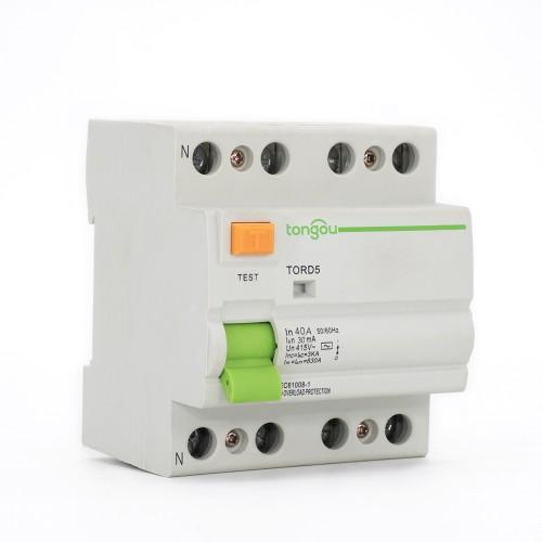 TORD5-63 4P 40A 30mA устройство защитного отключения электрического типа RCCB RCD