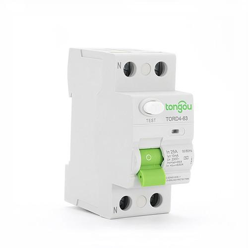 TORD4-63 2P 25A 10mA защитного отключения электрического типа УЗО RCCB RCD