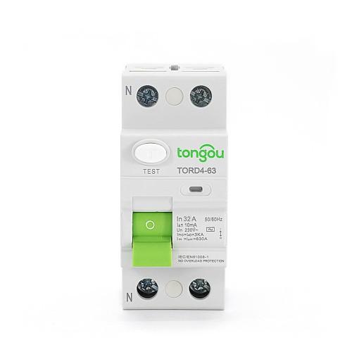 TORD4-63 2P 32A 10mA защитного отключения электрического типа УЗО RCCB RCD