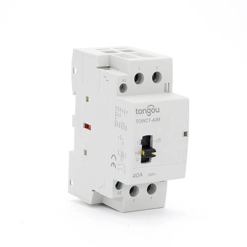 2P 40A 2NO CE CB Din – рейка, Бытовой модульный контактор AC 220V/230V с ручным переключателем TOWCTH-40/2