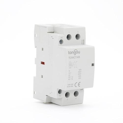 2P 63A 2NO CE CB Din – рейка, Бытовой модульный контактор AC 220V/230V TOWCT-63/2