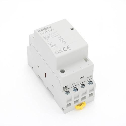 4P 20A 4NO CE CB Din – рейка, Бытовой модульный контактор AC 220V/230V/400V  TOWCTH-20/4