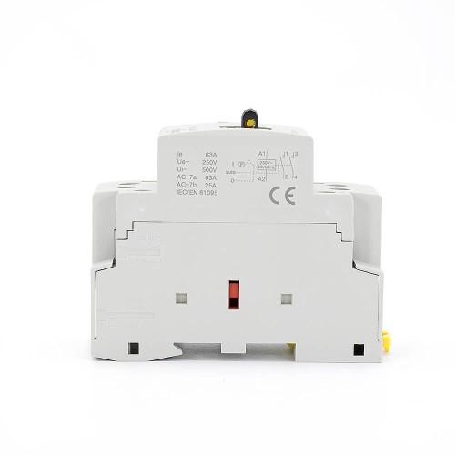 2P 63A 2NO CE CB Din – рейка, Бытовой модульный контактор AC 220V/230V с ручным переключателем TOWCTH-63/2