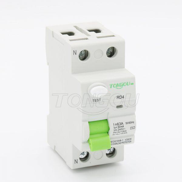 TORD4-63 2P 63A 30mA 110V 220V Residual Current Circuit Breaker RCCB