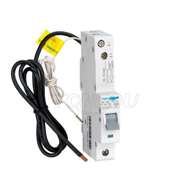 TOBH1-63 1P+N RCBO Residual Current Circuit breaker with Overcurrent protection