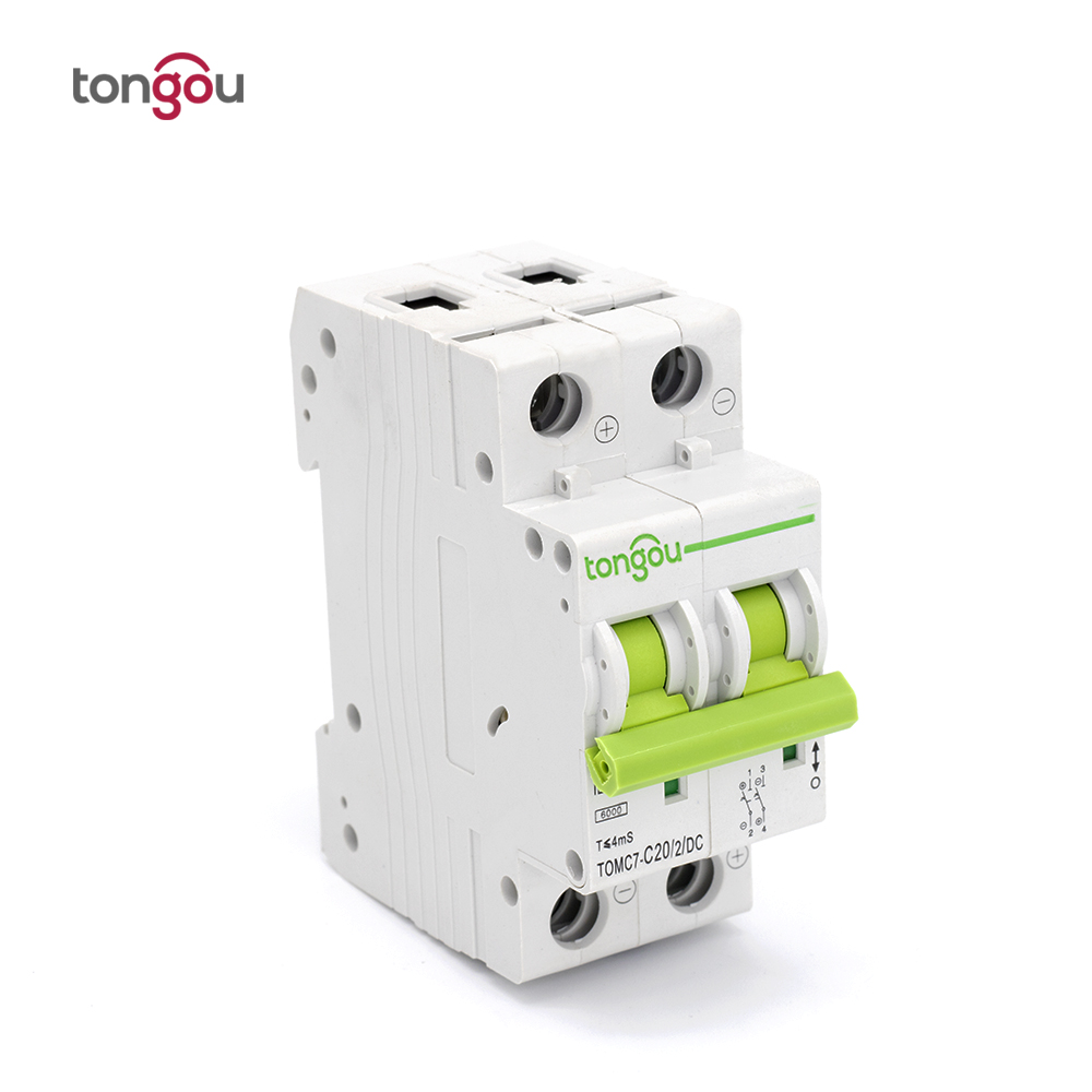 TOMC7-63 2P 20A DC Mini Circuit Breaker for Solar Energy MCB