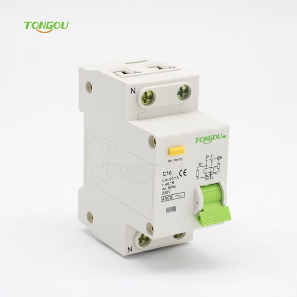 TOB10-63 16A 30mA Residual Current Circuit Breaker with Overcurrent Protection(RCBO)