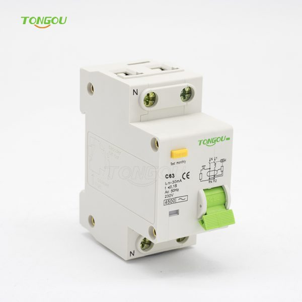 TOB10-63 63A 30mA Residual Current Circuit Breaker with Overcurrent Protection(RCBO)