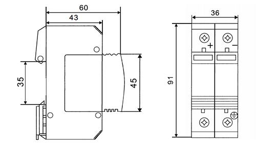 SPD DC 1000V 20KA~40KA House Surge Protector Protective Low-voltage Arrester Device