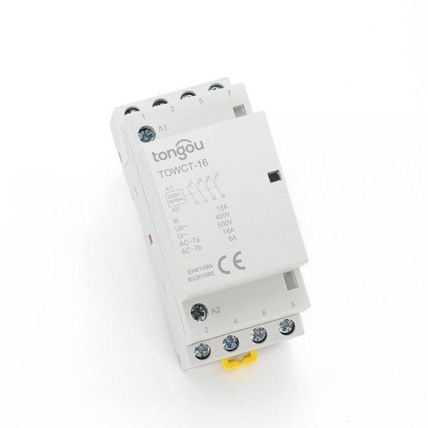 4P 16A 4NO CE CB Din Rail Household Modular Contactor AC 220V/230V/400V TOWCT-63/4