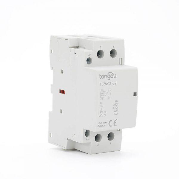 2P 32A 2NO CE CB Din Rail Household Modular Contactor AC 220V/230V TOWCT-32/2