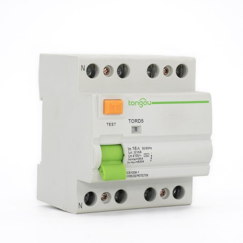 TORD5-63 4P 16A 30mA A/AC Type Residual Current Circuit Breaker RCCB RCD