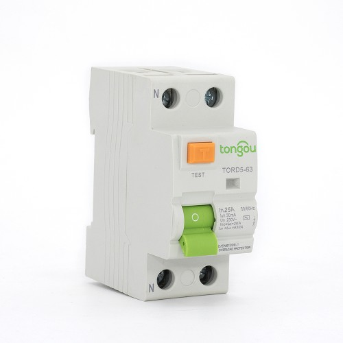 TORD5-63 2P 25A 30mA A/AC Type Residual Current Circuit Breaker RCCB RCD