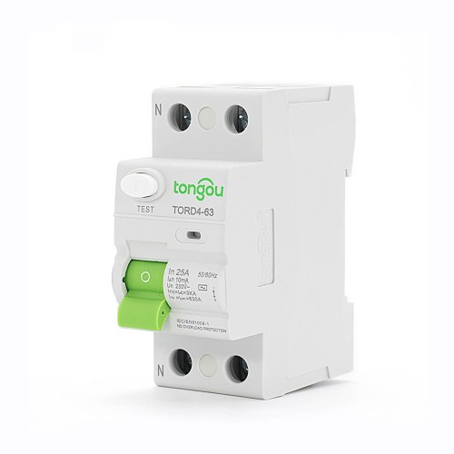 TORD4-63 2P 25A 10mA A/AC Type Residual Current Circuit Breaker RCCB RCD