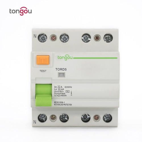 TORD5-63 4P 32A 30mA Electromagnetic Type Residual Current Circuit Breaker RCCB RCD