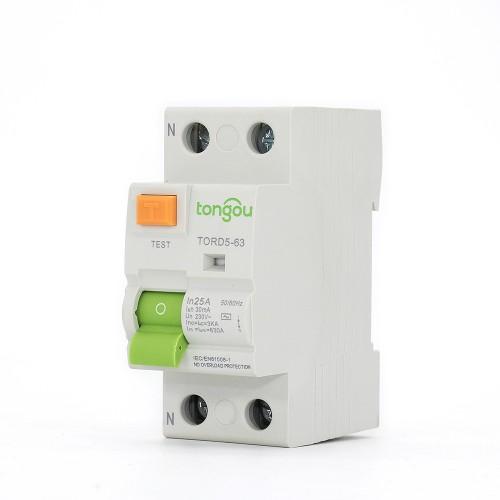 TORD5-63 2P 25A 30mA A/AC Type Residual Current Circuit Breaker RCCB RCD