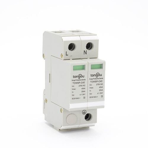 SPD AC 1P+N 20KA~40KA C ~275V  House Surge Protector Protection Protective Low-voltage Arrester Device