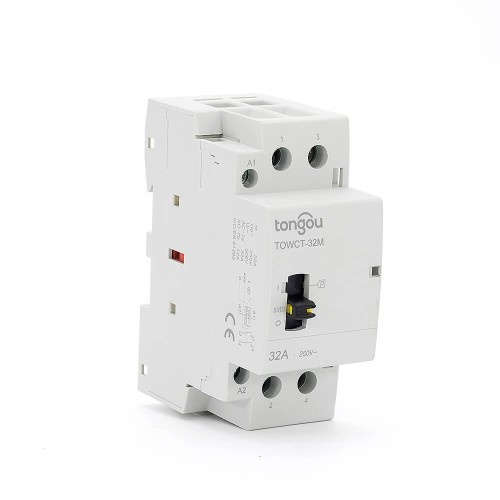 2P 32A 2NO CE CB Din Rail Household Modular Contactor AC 220V/230V With Manual Control Switch TOWCTH-32/2