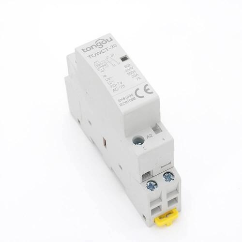 2P 20A 2NO CE CB Din Rail Household Modular Contactor AC 220V/230V TOWCT-20/2