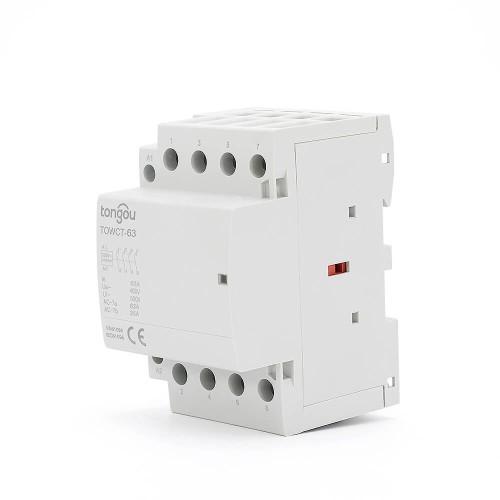 4P 63A 4NO CE CB Din Rail Household Modular Contactor AC 220V/230V/400V TOWCT-63/4