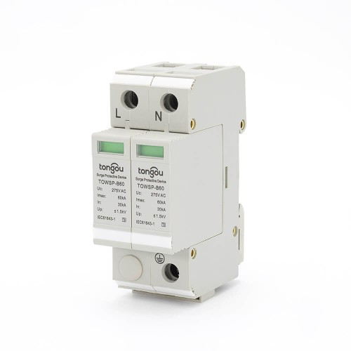 SPD AC 1P+N 30KA~60KA B ~275V  House Surge Protector Protection Protective Low-voltage Arrester Device