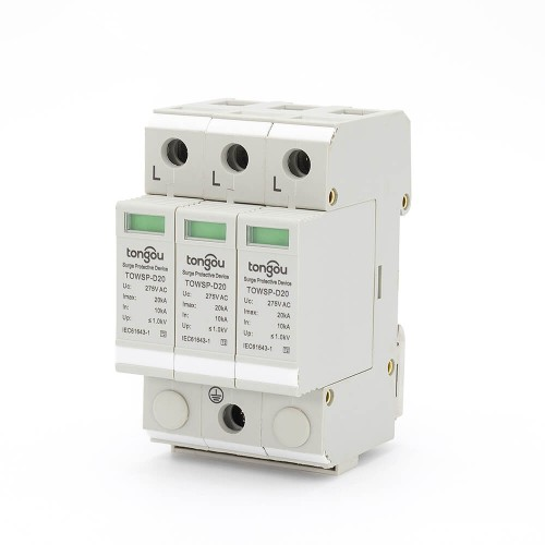 SPD AC 3P 10KA~20KA D ~275V House Surge Protector Protection Protective Low-voltage Arrester Device