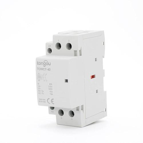2P 40A 2NO CE CB Din Rail Household Modular Contactor AC 220V/230V TOWCT-40/2