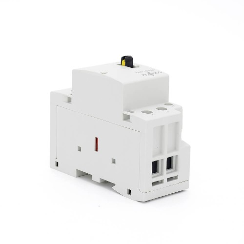 2P 63A 2NO CE CB Din Rail Household Modular Contactor AC 220V/230V With Manual Control Switch TOWCTH-63/2