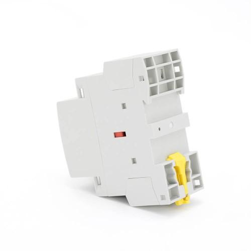 4P 20A 4NO CE CB Din Rail Household Modular Contactor AC 220V/230V/400V With Manual Control Switch TOWCTH-20/4