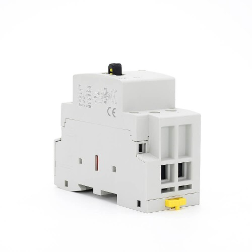 2P 40A 2NO CE CB Din Rail Household Modular Contactor AC 220V/230V With Manual Control Switch TOWCTH-40/2