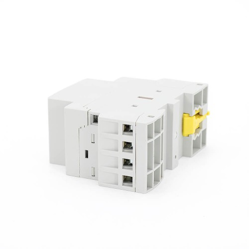 4P 25A 4NO CE CB Din Rail Household Modular Contactor AC 220V/230V/400V With Manual Control Switch TOWCTH-25/4