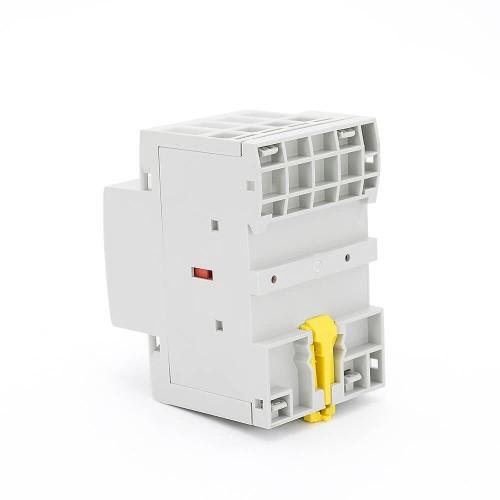 4P 32A 4NO CE CB Din Rail Household Modular Contactor AC 220V/230V/400V With Manual Control Switch TOWCTH-32/4