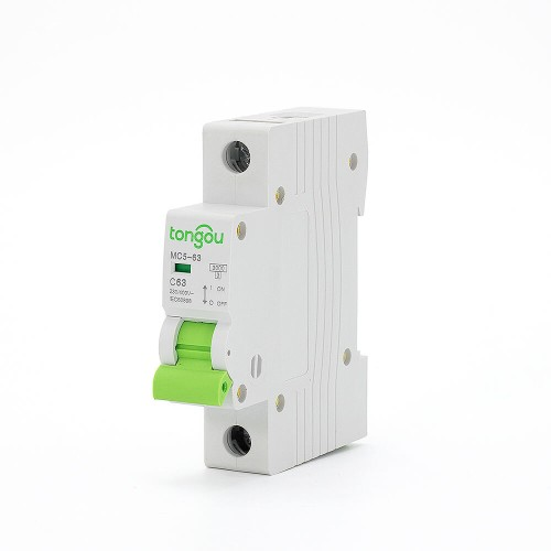TOMC5-63 3KA 110V 220V Curve C 1P 63A Mini Circuit Breaker MCB