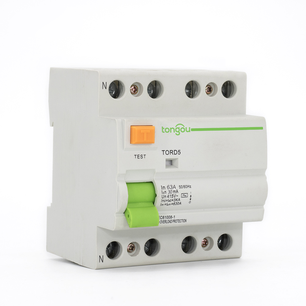 47TORD5-63 4P 63A 30mA Electromagnetic Type Residual Current Circuit Breaker RCCB RCD