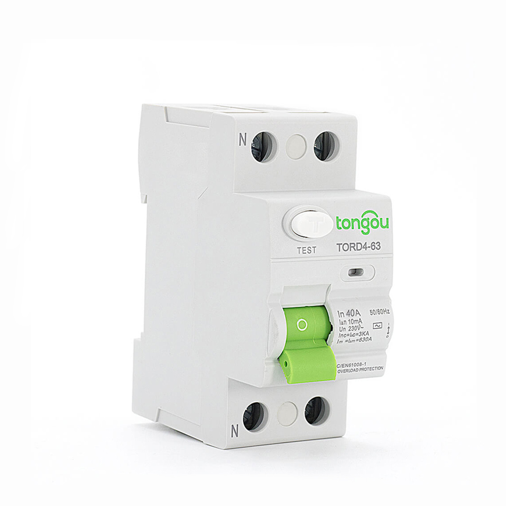 tord4 63 2p 40a 10ma a ac type residual current circuit elcb connection diagram earth leakage circuit breakers low