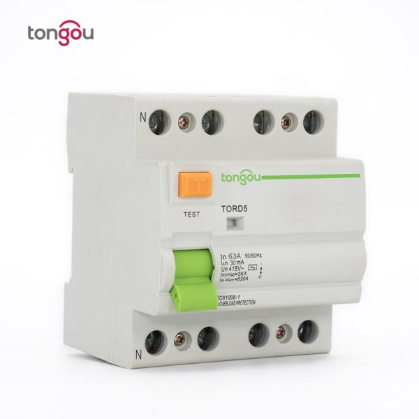TORD5-63 4P 63A 30mA Electromagnetic Type Residual Current Circuit Breaker RCCB RCD