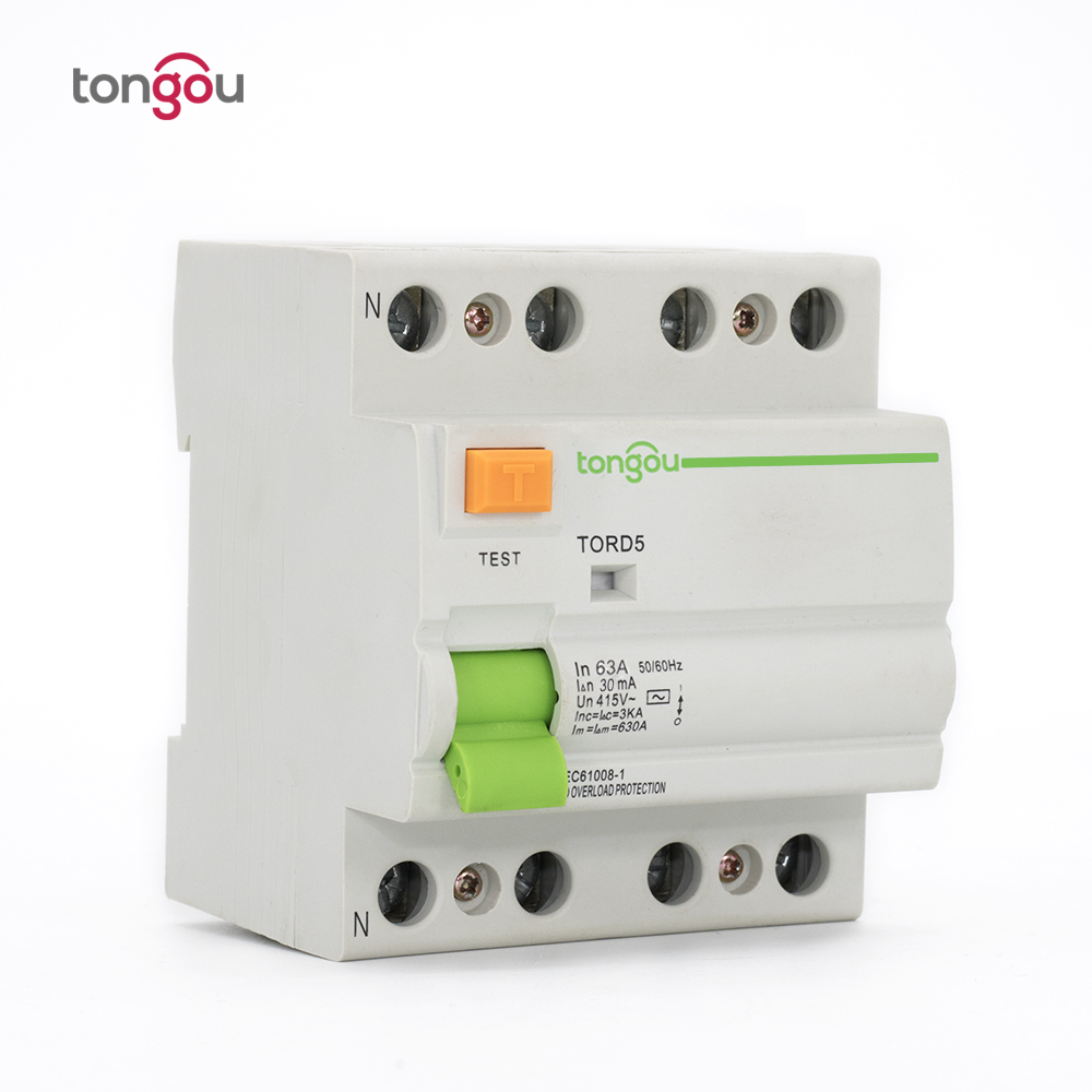 Tord5 63 4p 63a 30ma Electromagnetic Type Residual Current