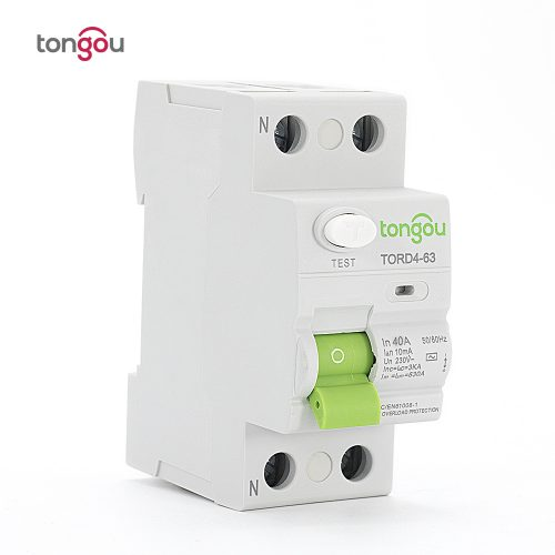 TORD4-63 2P 40A 10mA Electronic Type Residual Current Circuit Breaker RCCB RCD