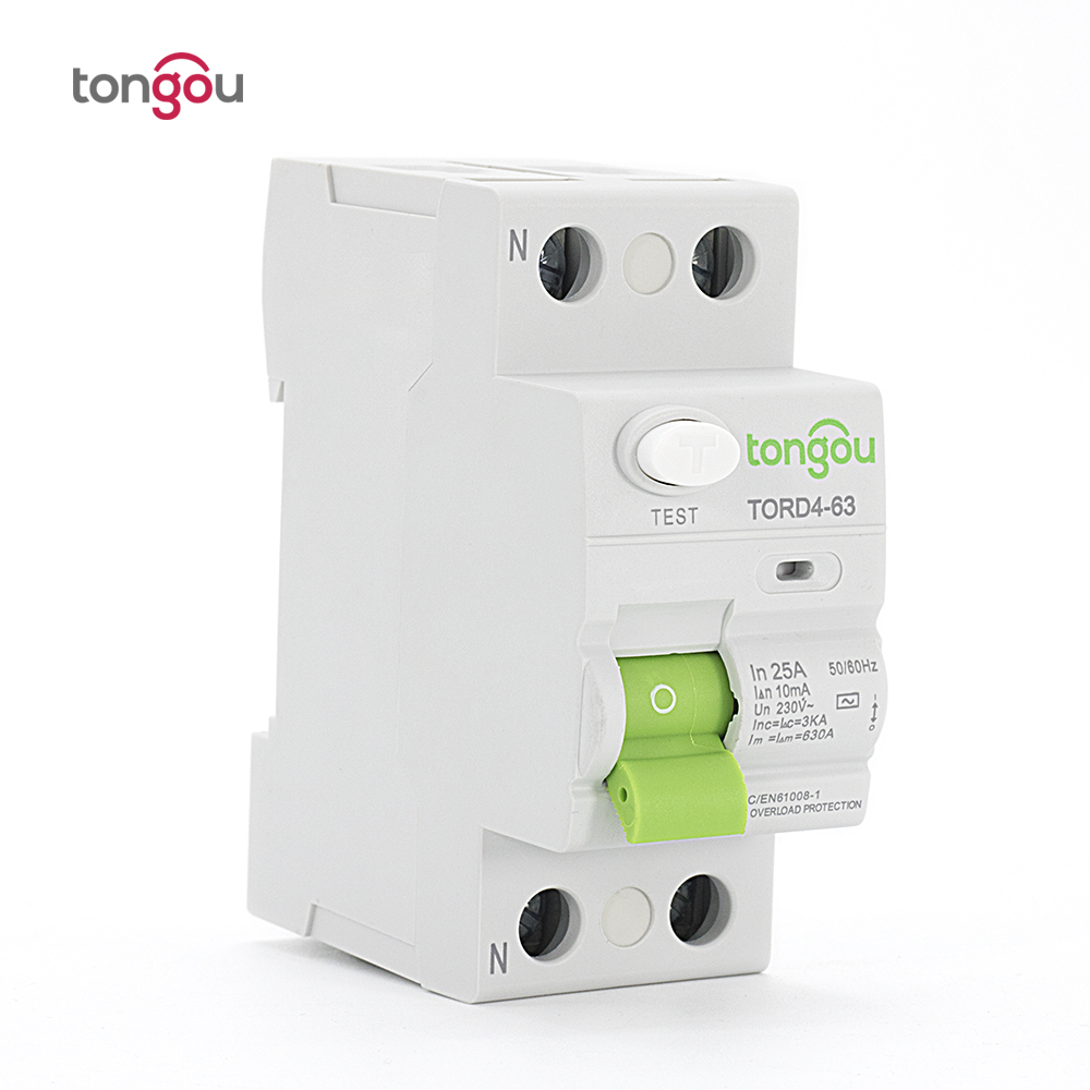 TORD4-63 2P 25A 10mA Electronic Type Residual Current Circuit Breaker RCCB RCD