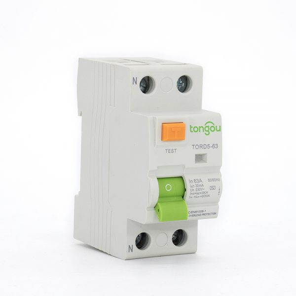 2TORD5-63 2P 63A 30mA Electromagnetic Type Residual Current Circuit Breaker RCCB