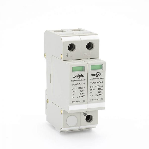 37SPD DC 1000V 20KA~40KA House Surge Protector Protective Low-voltage Arrester Device